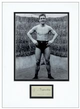 Georges Carpentier Autograph Signed Display